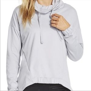 Fabletics Europa Grey Cowl Neck Pullover
